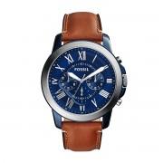 Часовник FOSSIL - Grant FS5151 Light Brown/Blue