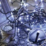 Karácsonyi led fényfüzér, rizsszem füzér IP44, kültérre is! 500 db hideg fehér leddel. 8 funkciós vezérlővel. Life Light Led 2 év garancia!