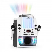 Auna Kara Liquida BT Equipo de karaoke Espectáculo de luces Chorro de agua Bluetooth blanco/gris