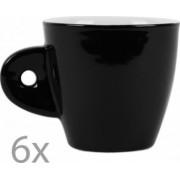 Cesti cafea / expresso / ceai set de 6 set servire bauturi calde 6 x ceasca / cescuta negru-alb Cosy and Trendy