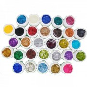 Gel UV Color cu Sclipici Miley - Set 30 Bucati
