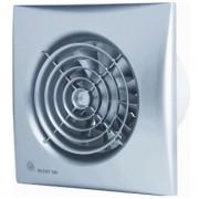 S&P Silent 100 CRIZ badkamerventilator met vertraagde aanloop en instelbare nalooptimer zilver