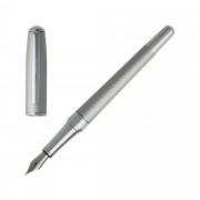 Boss Füller Füllfederhalter Fountain Pen Hugo Boss Essential. HSW7442B Matte Chrome
