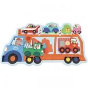 Vilac Układanka drewniana LAWETA, samochody, pojazdy, auta, 18m+,