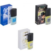 Skyedventures Set of 3 Blue Lady-Devdas-Silent love Perfume