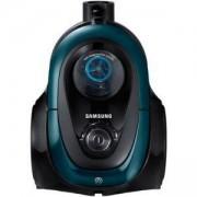 Прахосмукачка без торба Samsung VC07M21A0VN/GE, Телескопична тръба, 700 W, HEPA филтър, Черен/Зелен