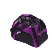 XGJ Transporte para Mascotas, para Perros Pequeños Medianos Aerolínea Aprobada Plegable Impermeable Acolchado Suave Respirable por Aerolínea Tren O Auto (Color : Purple, Size : 53 * 26 * 36cm)