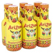ARIZONA Strawberry Lemonade Bevanda Naturale A Base Di Succo Di Fragola E Limone 6X500Ml
