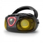 Auna Roadie, Boombox, черен, CD, USB, MP3, FM / AM радио, Bluetooth 2.1, LED цветови ефекти (MG3-Roadie BkBT USB)