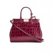 Aspinal of London Women's Dockery Snap Bag Small Tote Bag - Bordeaux