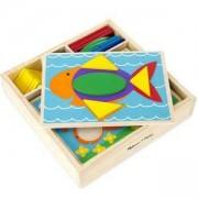 Комплект дървени шаблони за редене в кутия, 10528 Melissa and Doug, 000772105286