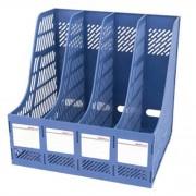 4 Sections Desk Organizer Office Supplies Accessories Desktop Tabletop Sorter Shelf(Blue)