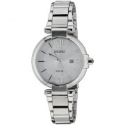 Seiko Analog Silver Round Women's Watch-SUT153P1