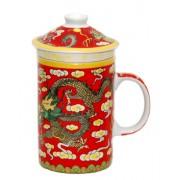 Set 5 cani ceai -dragon rosu