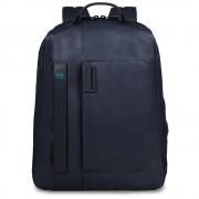 PIQUADRO Pulse Zaino Grande Porta Pc e iPad con Tasca Porta iPad Mini Porta Bottiglia e Porta Ombrello Blu