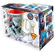 Superman szett - bögre, kulcstartó, 2x kitűző