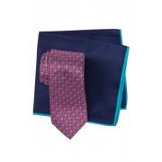 Ted Baker London Silk Melange Geo Flower Tie Pocket Square PINK