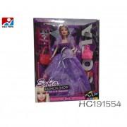 Barbie baba szett, táskákkal
