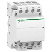 Moduláris kontaktor 63A, 4 Nyitó érintkező, 24V AC 50 Hz (Schneider A9C20167)