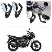 AutoStark 7/8 22cm Motorcycle Rear View Mirrors Handlebar Bar End Mirrors - Honda Unicorn