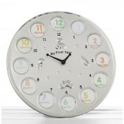 Ceas pentru primul an placat cu argint