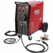 Lincoln Electric Power MIG 256 Flux-Cored/MIG Welder with Cart - Transformer, 230V, 30-300 Amp Output, ModelK3068-1, Brown