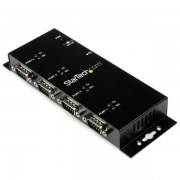 4 Port Usb To DB9 RS232 Serial Adapter Hub Industrial Din Rail And Wal