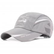 hip hop azul impreso curva gorra de béisbol verano malla s deportes verano gorra de veranobeach # P2 Sombrero LANG(#Gris)