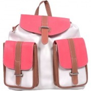 Suprino Womens White Canvas Back Pack Bag