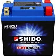 Shido Motorradbatterie Shido Lithium Motorradbatterie LB9-B Q, 12V, 3Ah (YB7/YB9/YTX9A/12N7