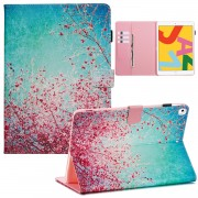 Pattern Printing Leather Wallet Stand Tablet Case for iPad 10.2 (2019) - Flower Tree