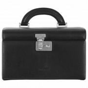 Windrose Beluga Caja para joyas joyero 24,5 cm piel negro
