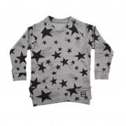 Bluza Stars - gri deschis, 6-8 ani