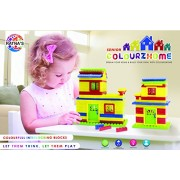 Ratnas Construction Set Colourz Home Senior Colorfull Interlocking Blocks for Kids to build their Own Little Homes