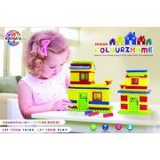 Ratnas Construction Set Colourz Home Senior Colorfull Interlocking Blocks for Kids to build their Own Little Homes