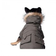 Canada Pooch Alaskan Army Dog Parka, 10, Army Green