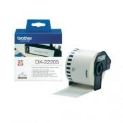 Непрекъсната етикетна лента Brother DK-22205, 62mm, 30.48m
