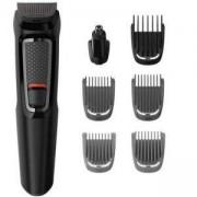 Тример за лице и коса, Philips 7 в 1 Multigroom series 3000, стоманени ножчета, MG3720/15