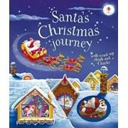 Santa's Christmas Journey with Wind-Up Sleigh, Hardcover/Fiona Watt