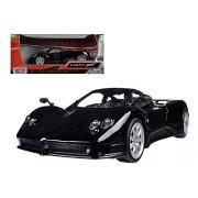 Motor Max Pagani Zonda F, Black - Showcasts 73369 1/24 Scale Diecast Model Toy Car
