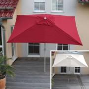 Alu Sonnenschirm Gartenschirm N23, 2x3m, rechteckig, neigbar, rostfrei ~ Variantenangebot