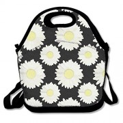 Chrysanthemum Personalized Insulated Lunch Bag Lunch Tote Neoprene Gourmet Cooler Warm Picnic Bag for School Work Office