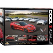 Eurographics Puzzle 1000 piese 2014 Corvette Stingray It Runs in the Family