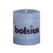Bolsius Stompkaars rustiek 8x7 cm jeans blauw
