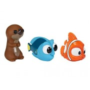Finding Dory Bath Squirter 3 Pack with Little Dory, Nemo and Sea Otter Bath Squirters