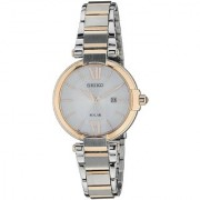 Seiko Silver Stainless Steel Round Dial Analog Watch For Women (SUT156P1)