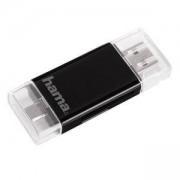 Четец SD/mSD Card Reader за смартфон/таблет USB 2.0 /micro USB OTG HAMA-123950