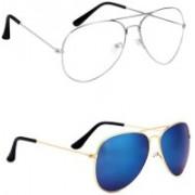 Sulit Aviator, Wayfarer, Cat-eye Sunglasses(Clear, Blue)