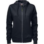 Printer Hooded Sweat Vest Overhead Lady 2262052 Zwart - Maat XL