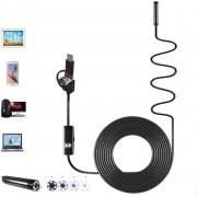 Endoscoop Camera Voor Smartphone - Laptop - 3 IN 1 USB - 2 Meter